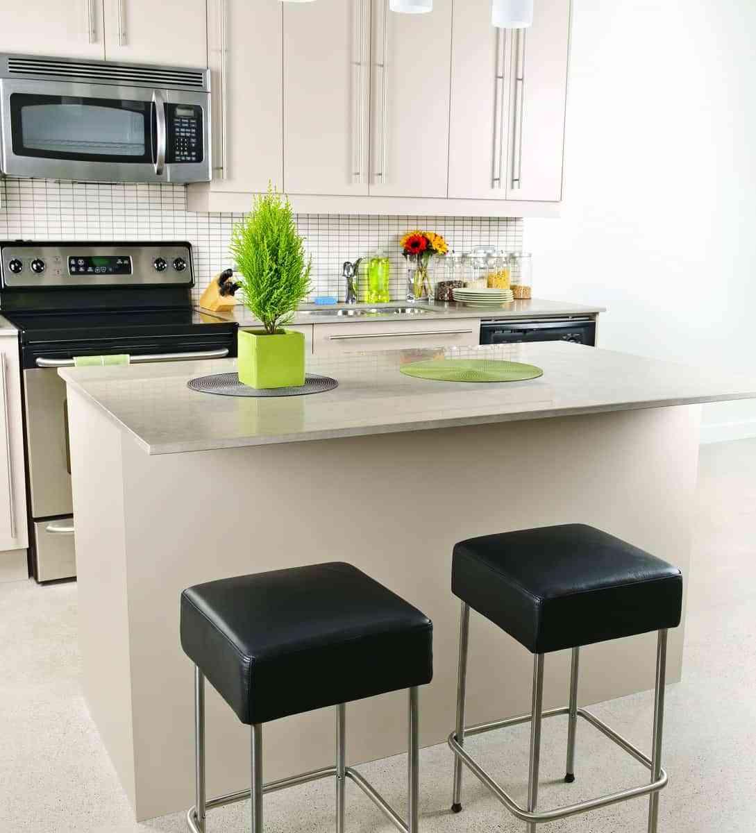 Cocinas peque as en espacios reducidos - Aprovechar espacio piso pequeno ...