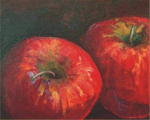 Cuadros para decorar la cocina - Cuadro manzanas