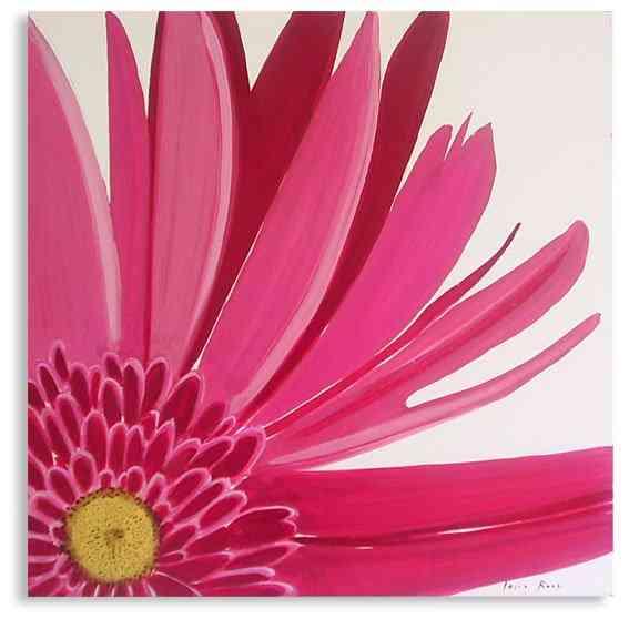 Cuadros para decorar la cocina - Cuadro flor rosa