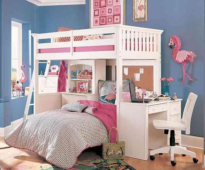 Los muebles en dormitorios juveniles - Muebles habitación niñas