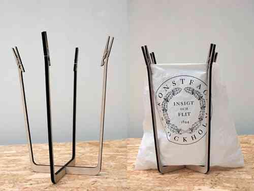 papelera de pinzas y su uso