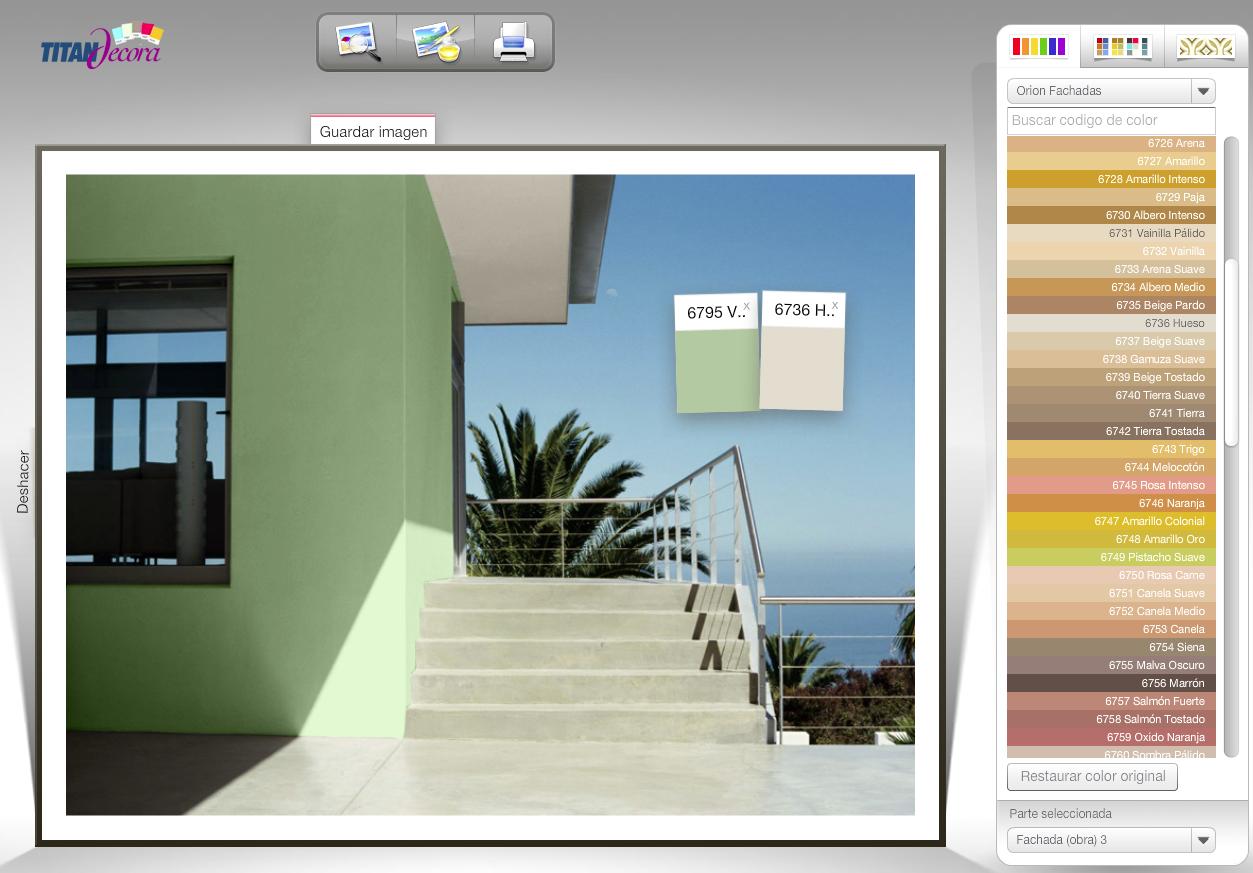 Elige tus pinturas titan simulador de colores para el hogar for Pinturas bruguer colores