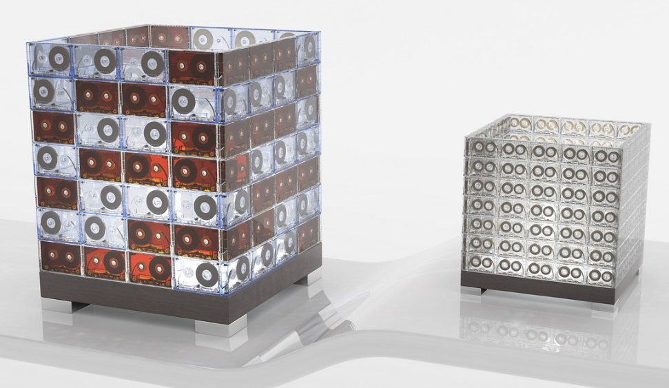 lampara de cintas de cassetes