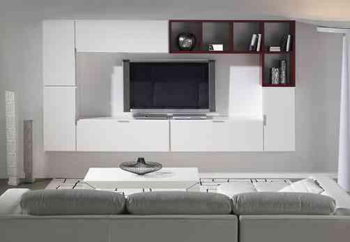 mueble modular en blanco