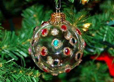 Como hacer pelotas para arbol de navidad