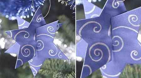 manualidades navideñas cómo hacer estrellas tridimensionales