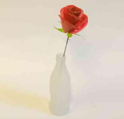 rosas de plástico reciclado