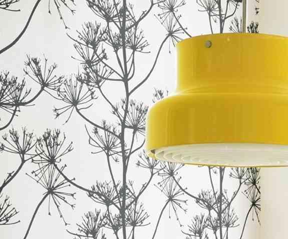 Detalle de lámpara cocina amarilla