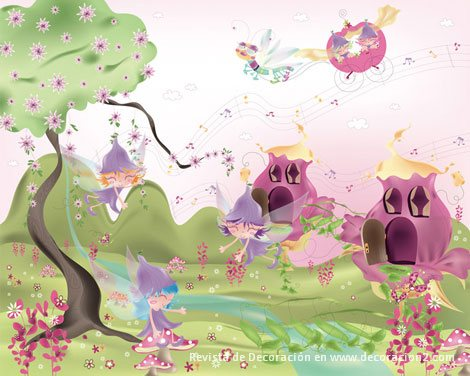 Imagenes de hadas infantiles imagui - Dibujos en paredes infantiles ...