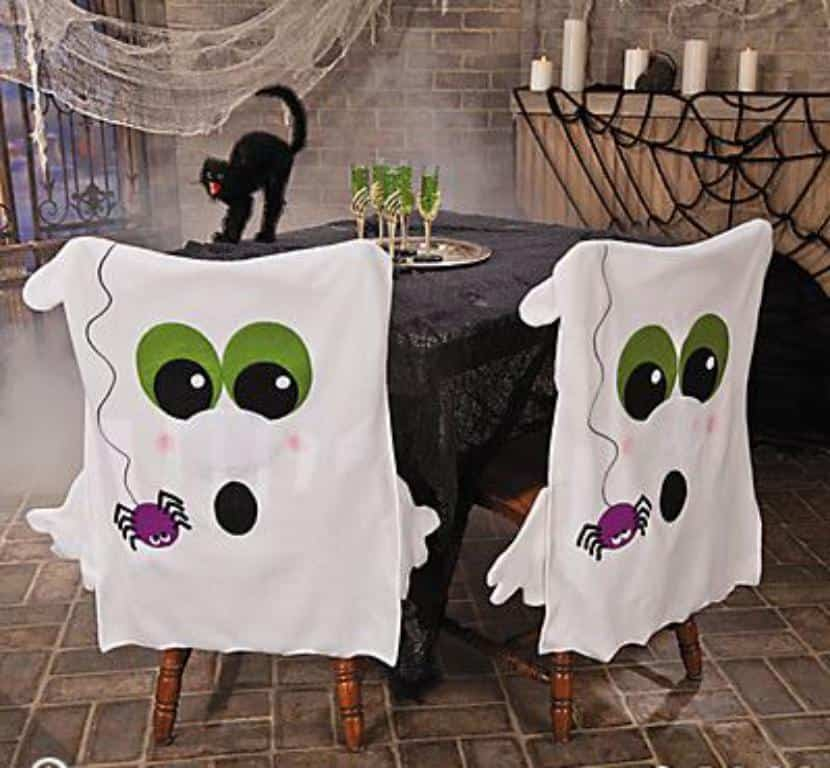 ideas para decorar sillas fantasmales en halloween - Decoraciones De Halloween