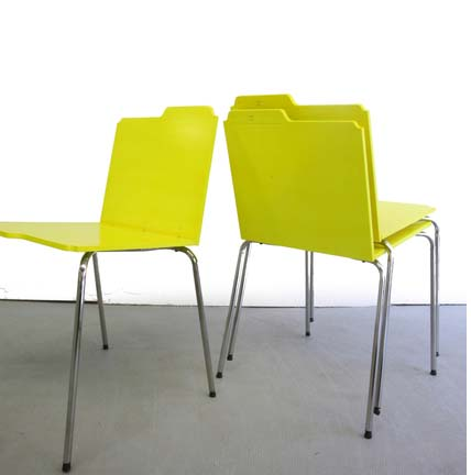 Sit and file with these designer chairs