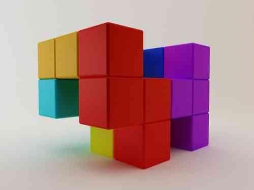 sillón con piezas de tetris
