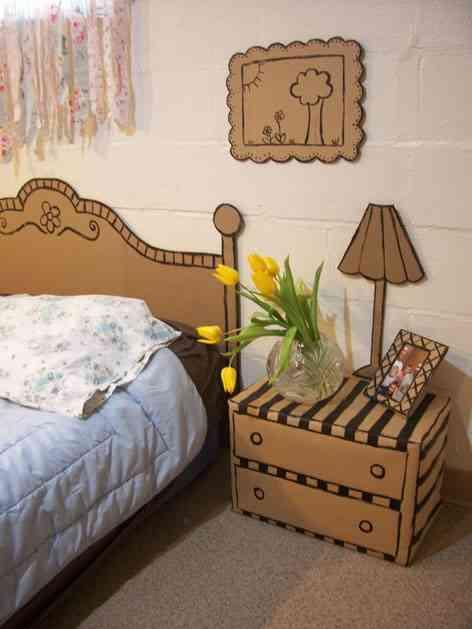 muebles de carton para dormitorio