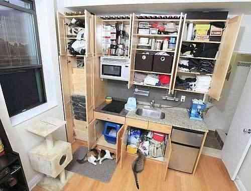 Una cocina diminuta