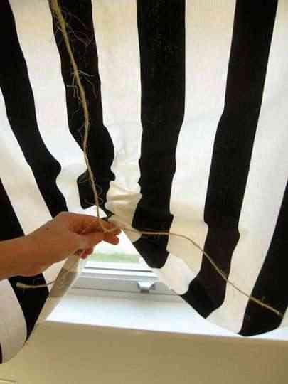 Manualidades: media cortina de rayas