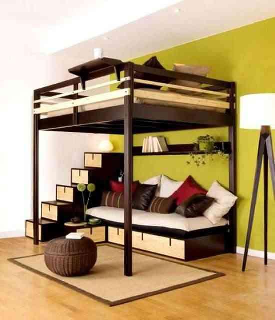 habitación pequeña en dos alturas