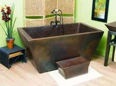 Bañera de cobre macizo