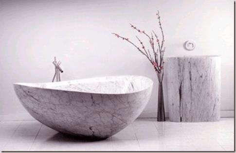 Bañera de mármol de una pieza