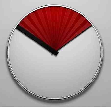 Reloj que da el abanico y la hora