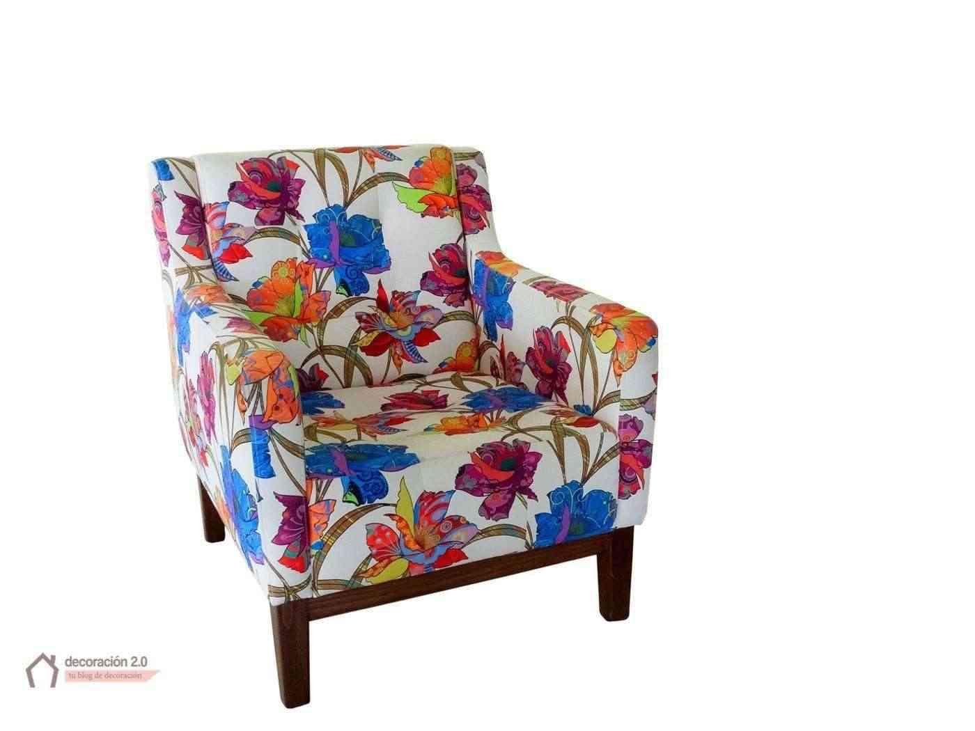 sillón tapizado con amor