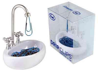 mis clips en el lavabo