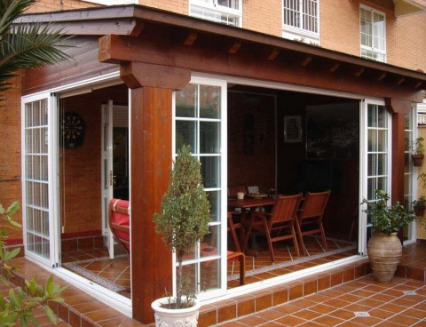 Pon linda tu casa porches de madera for Porches de madera