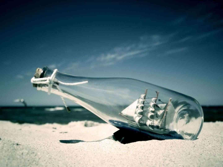 El mar en botella de cristal