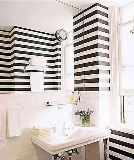 Paredes a rayas o rayas con paredes - Pintar paredes a rayas horizontales ...