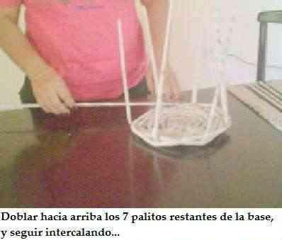 trenzar una cesta de papel