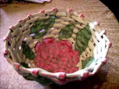 frutero de canutillos de papel