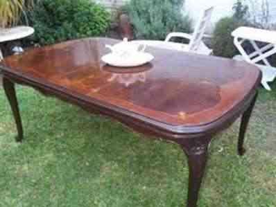 mesa madera patas labradas