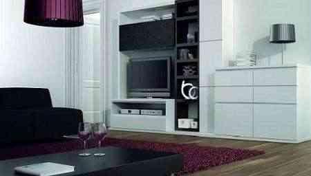 Sal n en blanco y negro c mo decorar - Salon en blanco y negro ...
