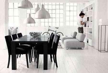 """Salón en """"Blanco y Negro"""". ¿Cómo decorar?"""