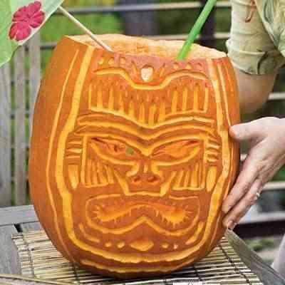 calabaza halloween totem