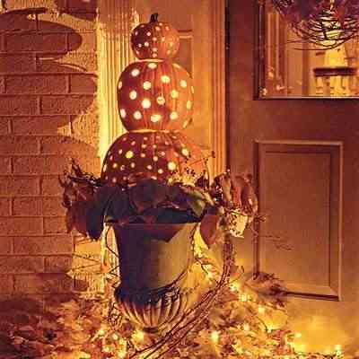 calabazas halloween agujereadas
