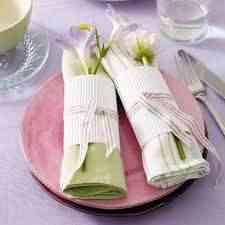 Flores en la servilleta