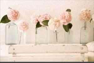 Flores, recipientes y texturas