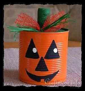 candy holder can of pumpkin