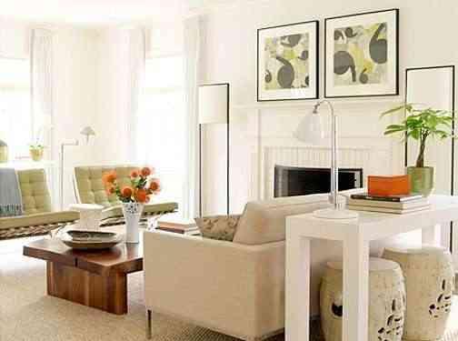 mesa detras del sofa para decorar parte de atras