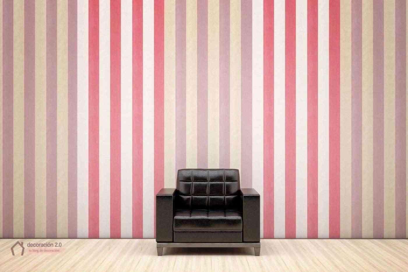 Rayas para la pared - Pared pintada a rayas verticales ...