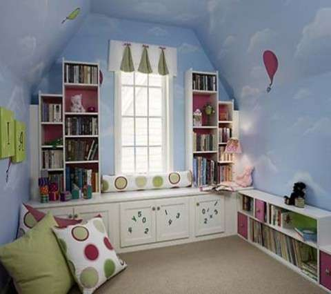 Pintura decorativa para cuarto infantil