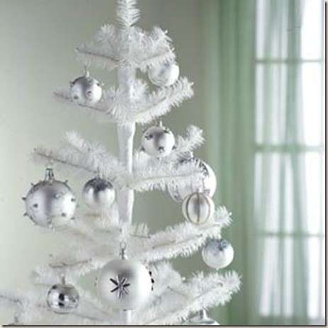 Decorating with white Christmas trees