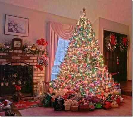 Decorando con árboles de navidad