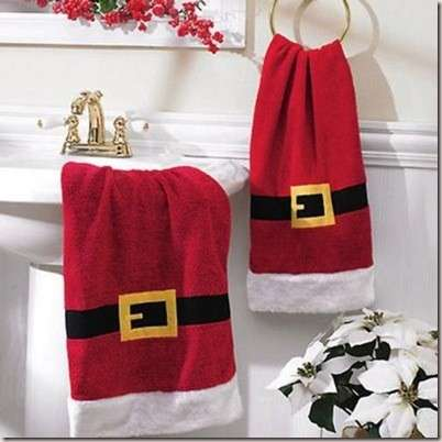 decorate bathroom at Christmas-2l