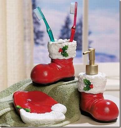 decorate bathroom at Christmas-4