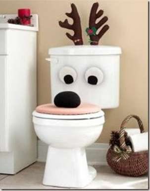 decorate bathroom at Christmas-6