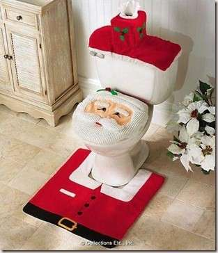 decorate bathroom at Christmas