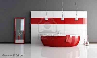 5694615-rojo-y-blanco-cuarto-de-ba-o-contempor-neo-m-nimo--de-representaci-n