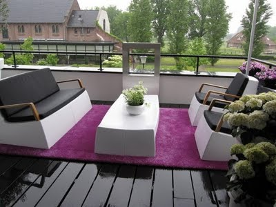 alfombra en la terraza