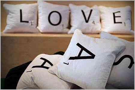cojines con letras
